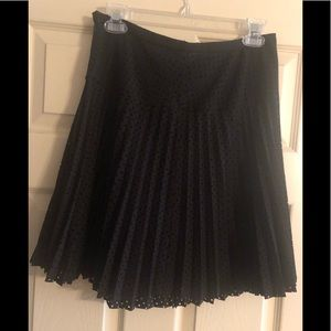 J. Crew Black pleated skirt. Size 6